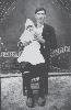Νικόλαος Χατζηκουτσού με το βαφτιστικό του Παναγιώτη Πάκκου
