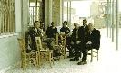 Γεώργιος Πάκκου στο καφενείο εκκλησίας Προδρόμου στην Άσσια